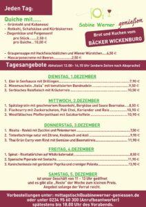 Wochenkarte 1.12. - 5.12.